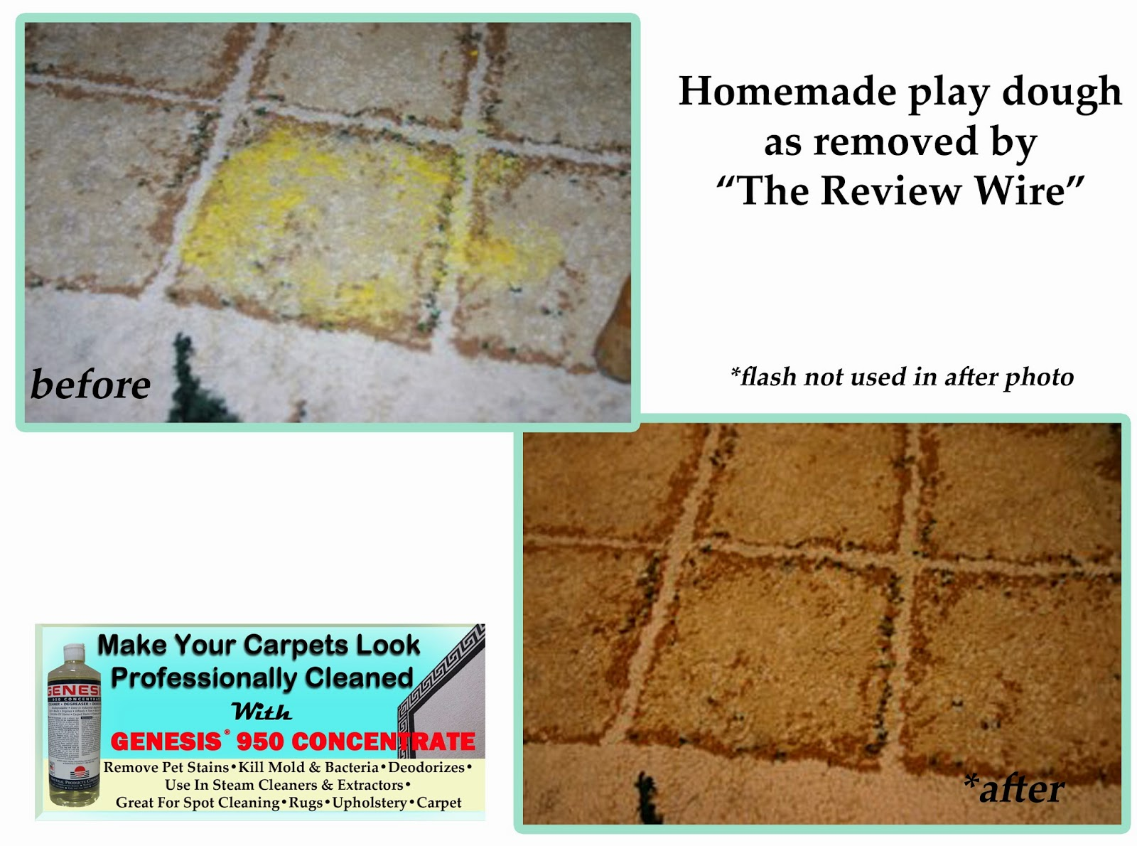 Remove Play-dough from carpet