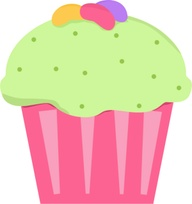 cupcake con caramelos