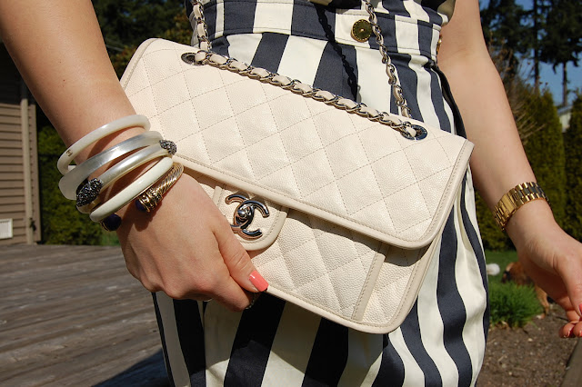 White French Riviera Chanel Flap bag