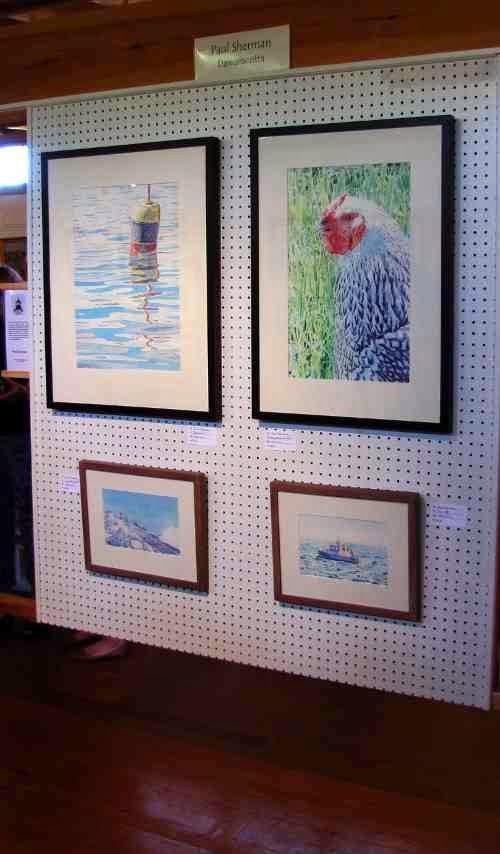 Paul Sherman's Panel at the Pemaquid Art Gallery