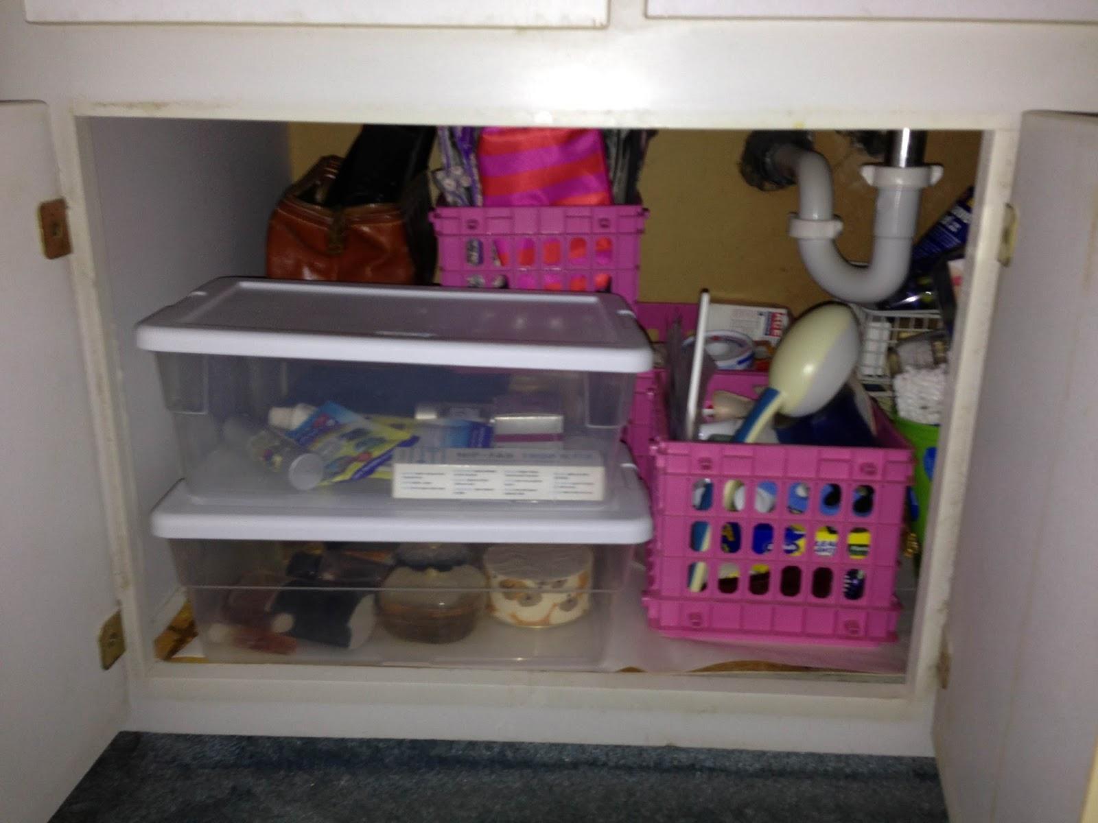 Organize under bathroom sink