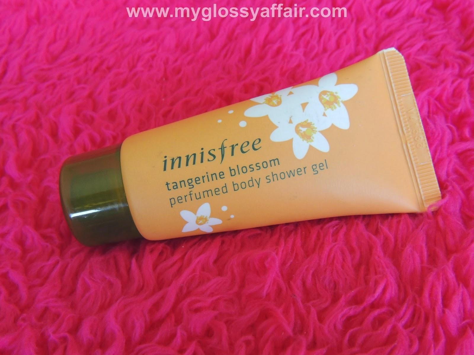 Innisfree tangerine blossom perfumed body shower gel