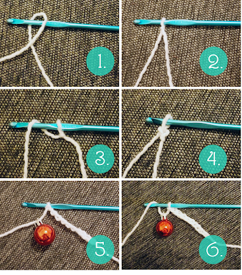 DIY crochet christmas ornament garland