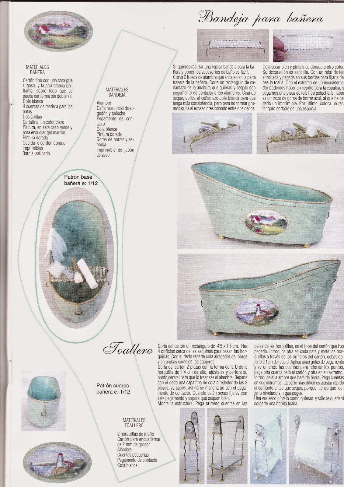 Mis rincones en miniatura muebles y complementos para el ba o - Complementos para el bano ...