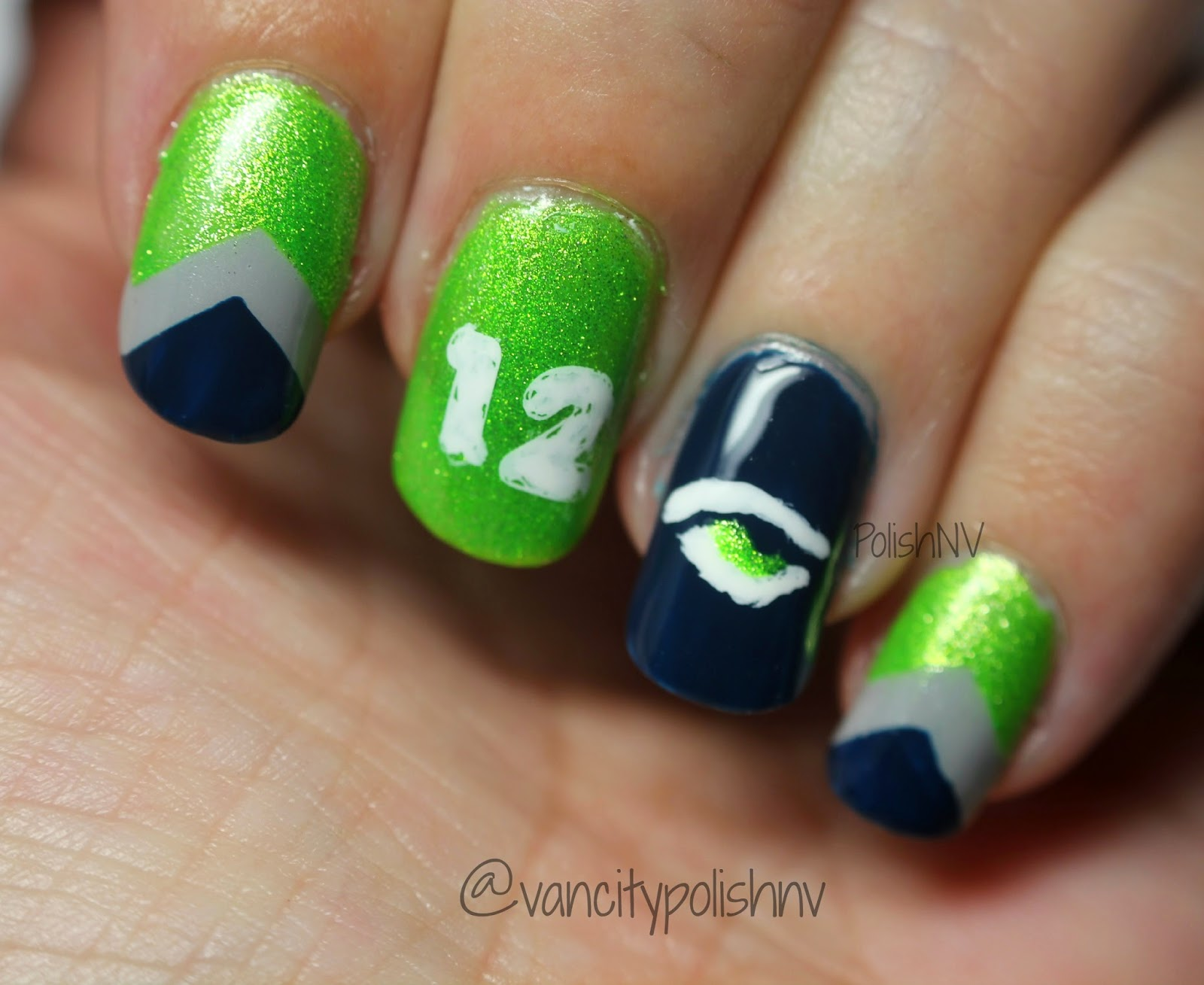 Best Nail Designs Seattle: Seattle seahawks nails nail designs.