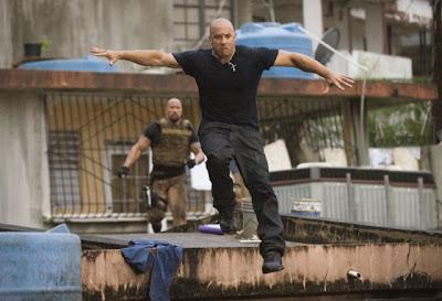 Dwayne Johnson chasing Vin Diesel