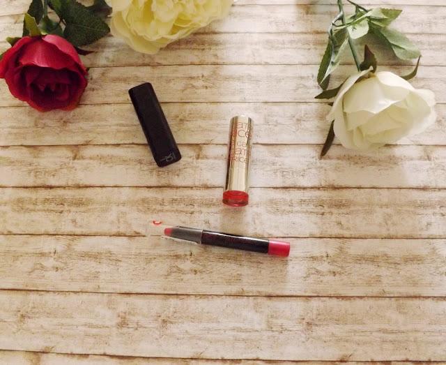 Calvin Klein -  Delicious Luxury Creme Lipstick in Henna, Catrice - Ultimate Lip Glow, Rival de Loop Young - Matt Pencil in 04 very berry
