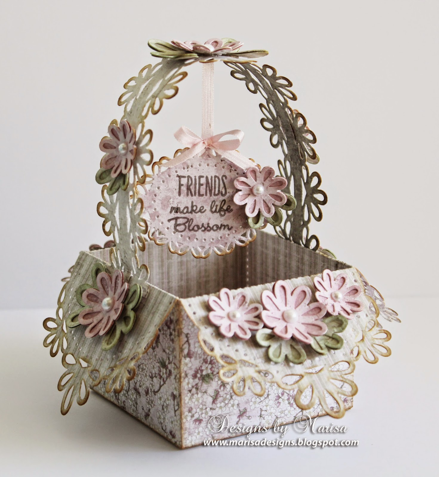 I Also Used Spellbinders New Dies That Designed For Them To Make The Basket And Card