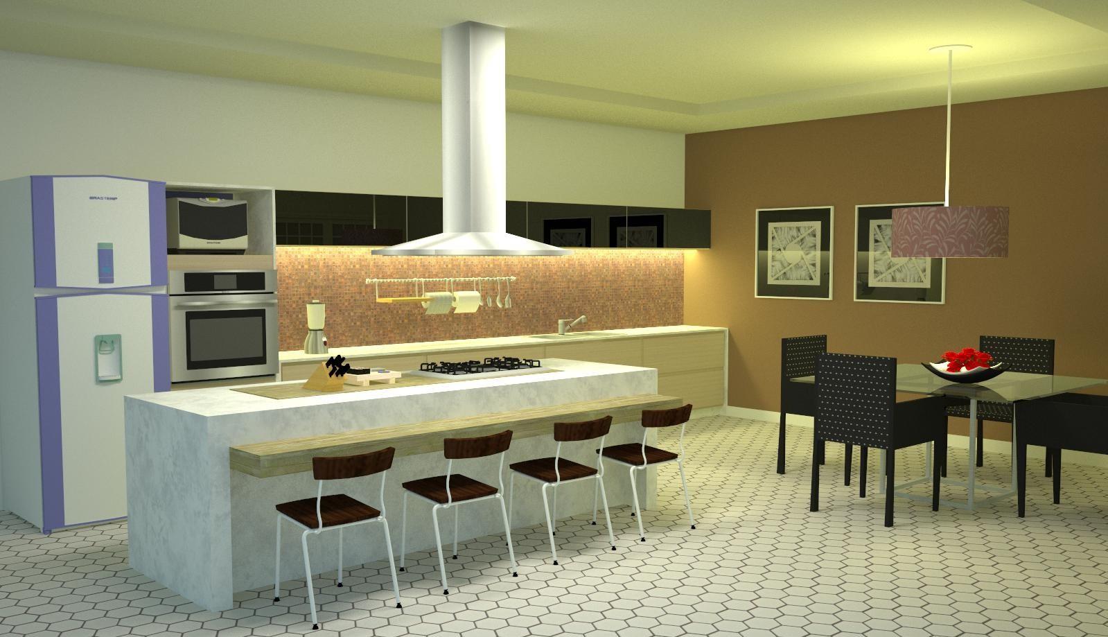 FRED FRAZÃO: Design de Interiores Cozinha #927439 1599 919