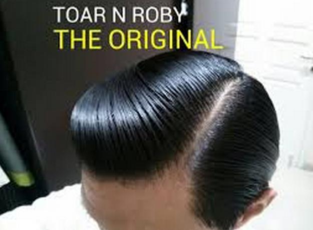 Hasil Pemakaian Pomade The Original Toar and Roby Pomade Kilau Sedang Kekuatan Sedang