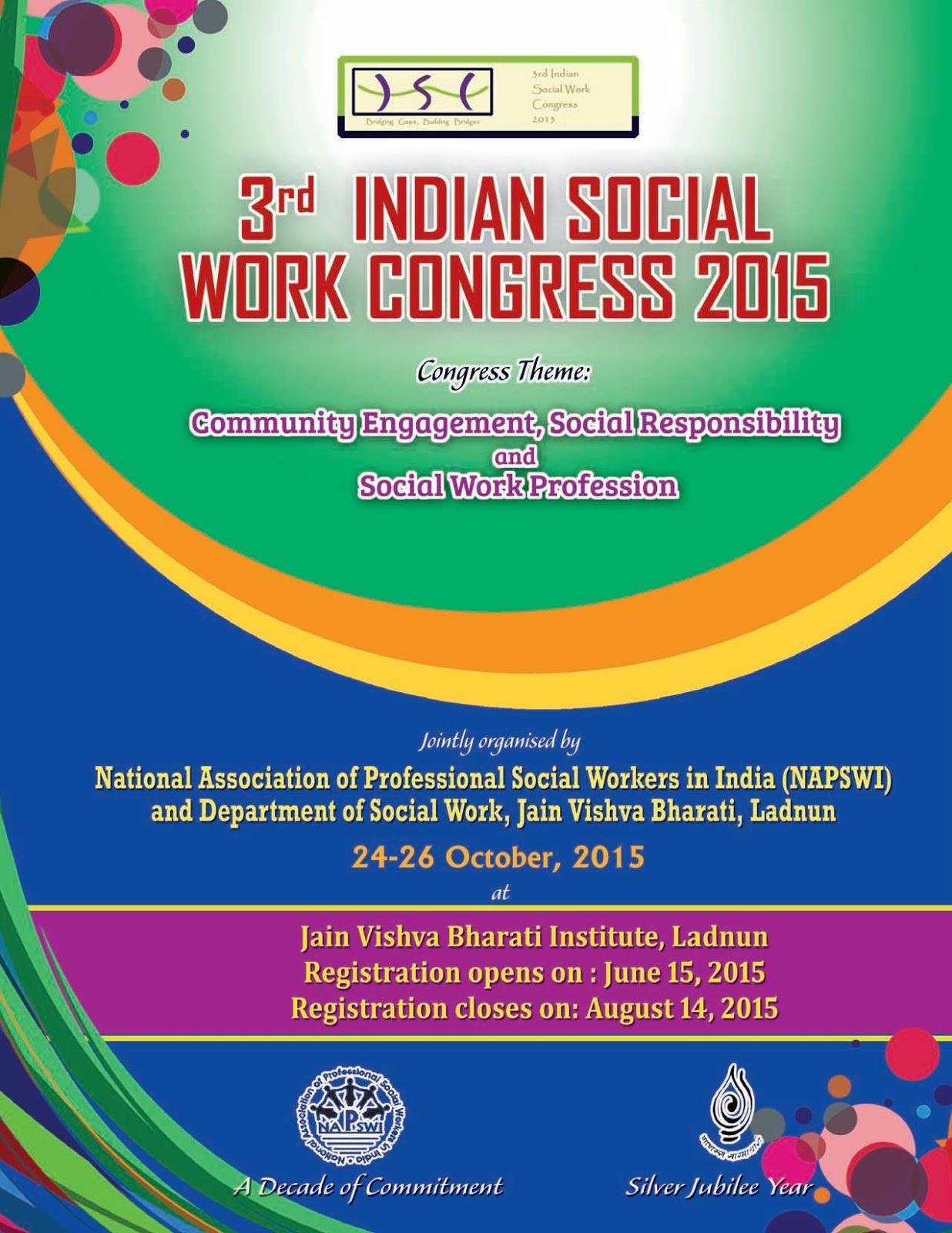 3rd indian social work congress 2015 community engagement and social work profession