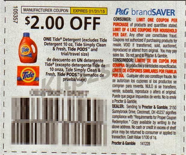 Tide coupons online