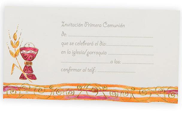 Invitación Primera Comunión Ref. 541204