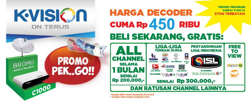 Harga Promo Decoder K Vision Bulan November 2014