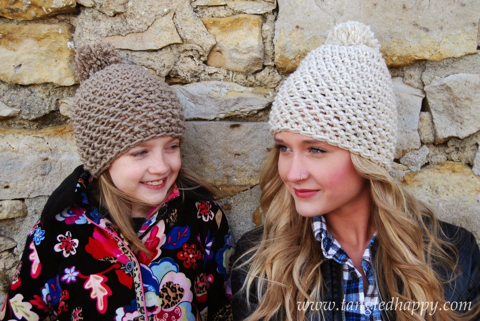 free crochet pattern chunky pom pom beanie