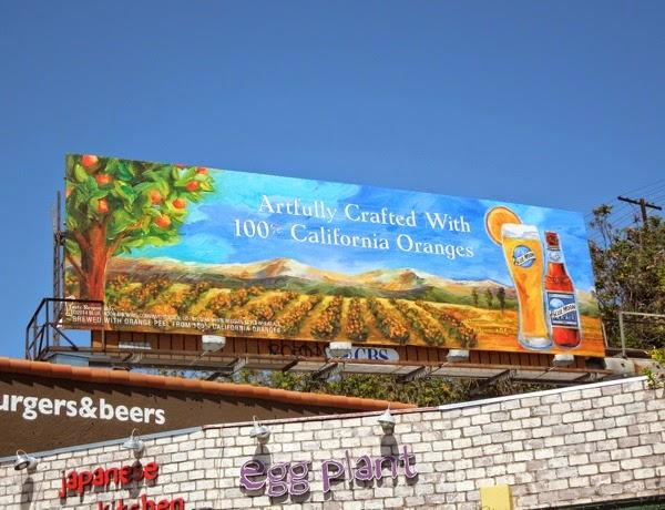 Blue Moon Artfully Crafted 100% California Oranges billboard