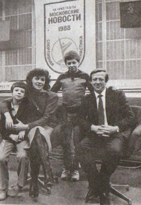 Nikolai Andrianov con su familia