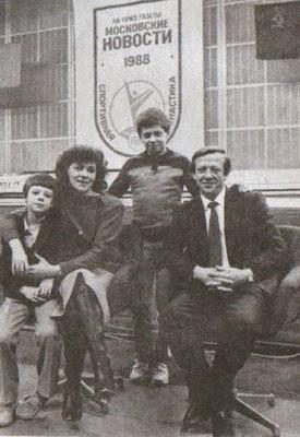 Nikolai Andrianov con su familia