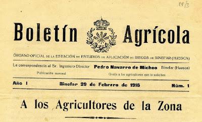 Boletín Agrónomo de Binéfar del 29/02/1916