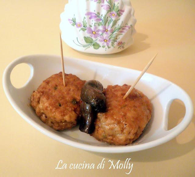 polpette al marsala con funghi porcini al tartufo