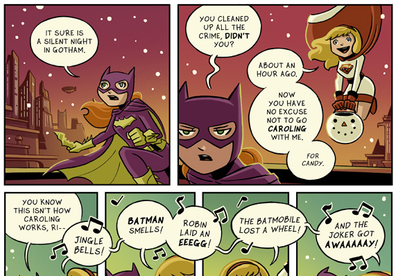 Mike Maihack's Batgirl/Supergirl Christmas Special