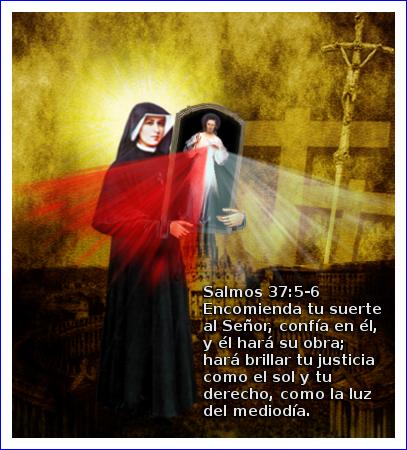 salmo 37 con santa faustina y el cuadro de jesus misericordiosos