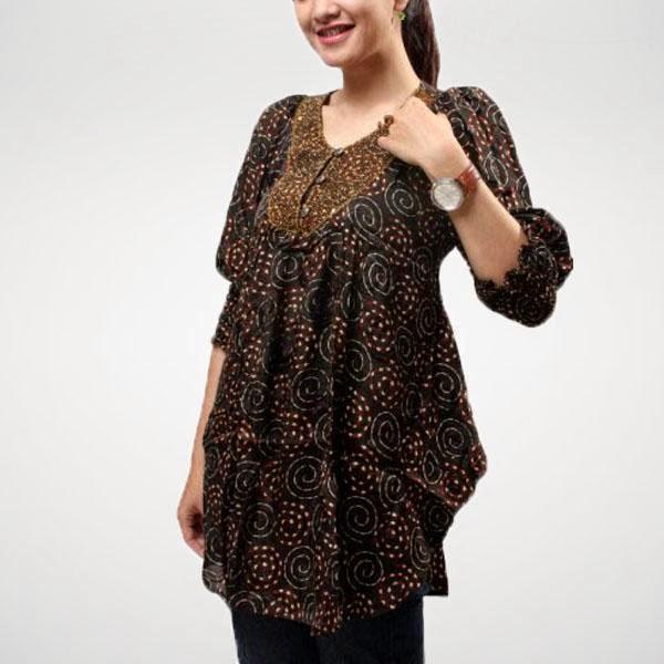 Model Baju Hamil Batik Modern