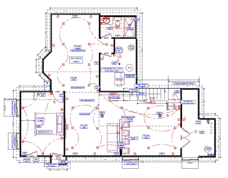Project 4 basement remodel all apple all day for Basement blueprint