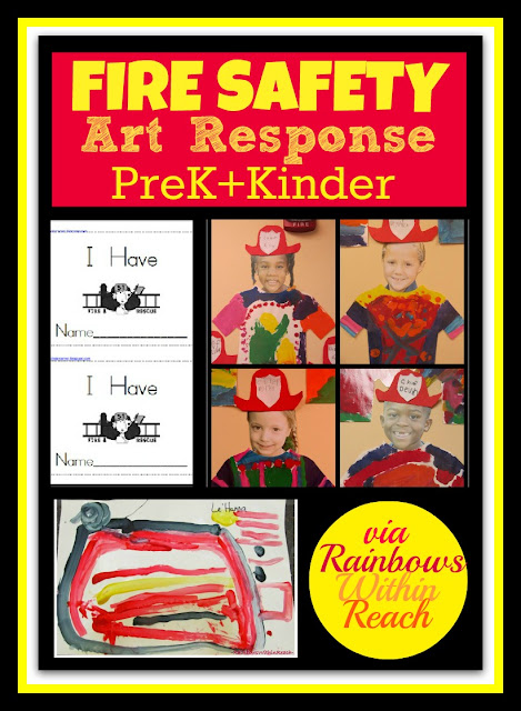 photo of: Fire Safety Month, Fire Prevention: Art Responses in Preschool + Kindergarten (via RainbowsWithinReach)