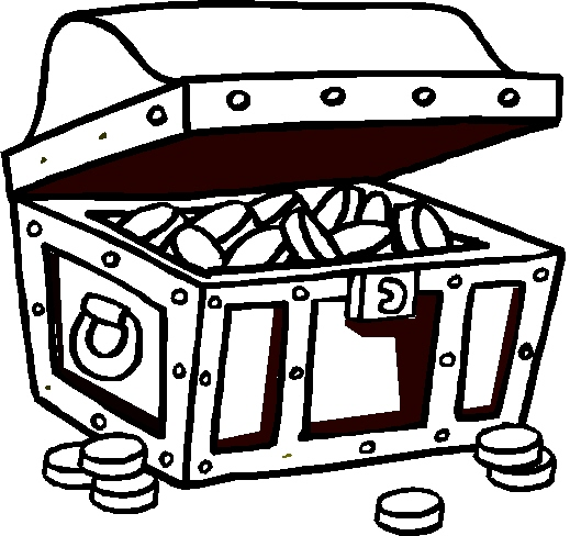 Empty Treasure Chest Coloring Page http://www.realtreasurehunts.net/2012/09/treasure-chest-coloring-pages.html