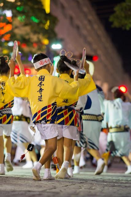 三鷹阿波踊り 国分寺連の子供踊りの後姿