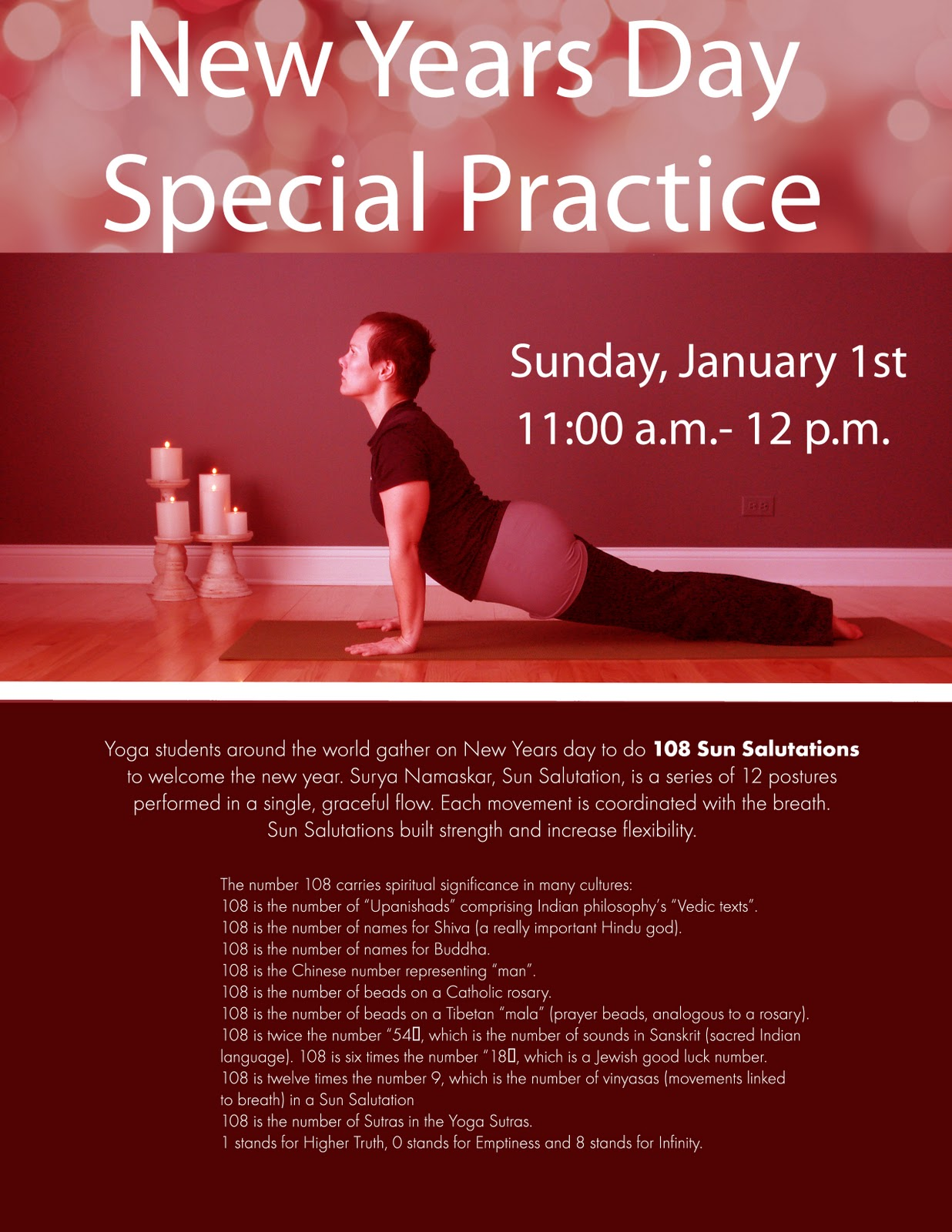 New years Day 108 Sun Salutations