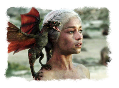 Daenerys and her dragons.