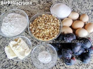 Prajitura cu prune si nuca ingrediente reteta