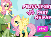 Fluttershy Vs Pony Human juego
