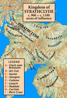 Kingdom of Strathclyde, areas of influence, c. 900 – c. 1100