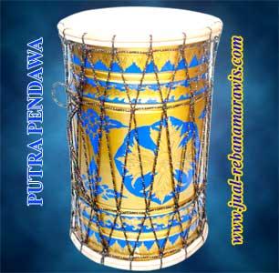 Hajir Marawis Batik kuning Emas Motif Biru