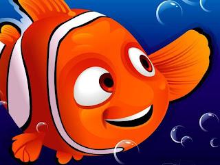 Nemo rodeado de burbujas Dibujos de nemo para imprimir