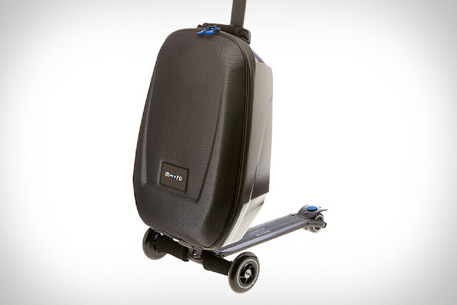 Micro scooter luggage for Motorized ride on suitcase