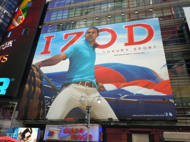 Izod fashion billboard