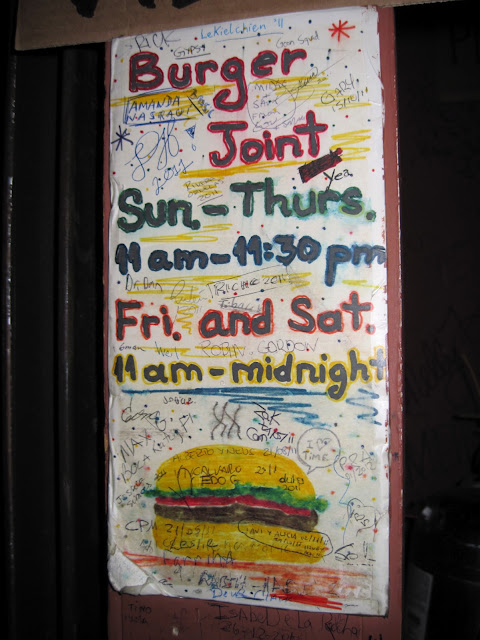 Joint hunters shouldn't miss the Burger Joint which is a place for dining in New York that is tucked behind Le Parker Meridien