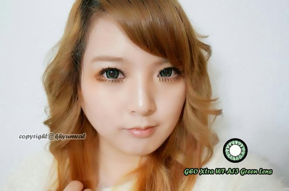 Geo Xtra Wta13 Green colored contacts