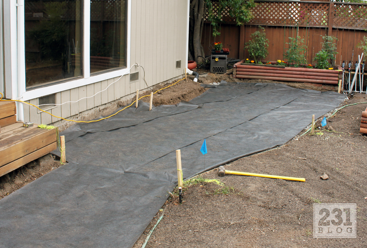 With 10 Yards Of Recycled Base Rock Waiting In Our Driveway (we Got The  Cheap Stuff, Around $18 Per Yard) It Was Time To Get Started On The Patio  Base.