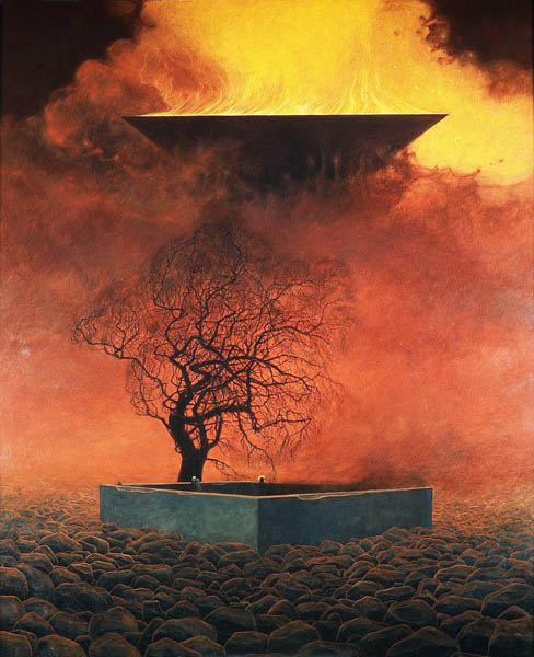 Mystic Blood Dark ART Tribute to Zdzislaw Beksinski