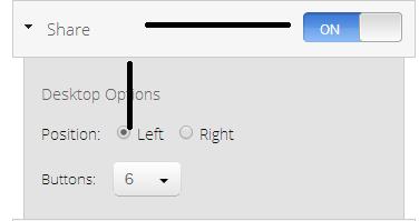 Sharing buttons properties