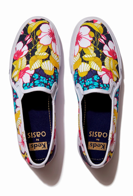 Keds by Oasis Aloha tropical sketched floral sneaker
