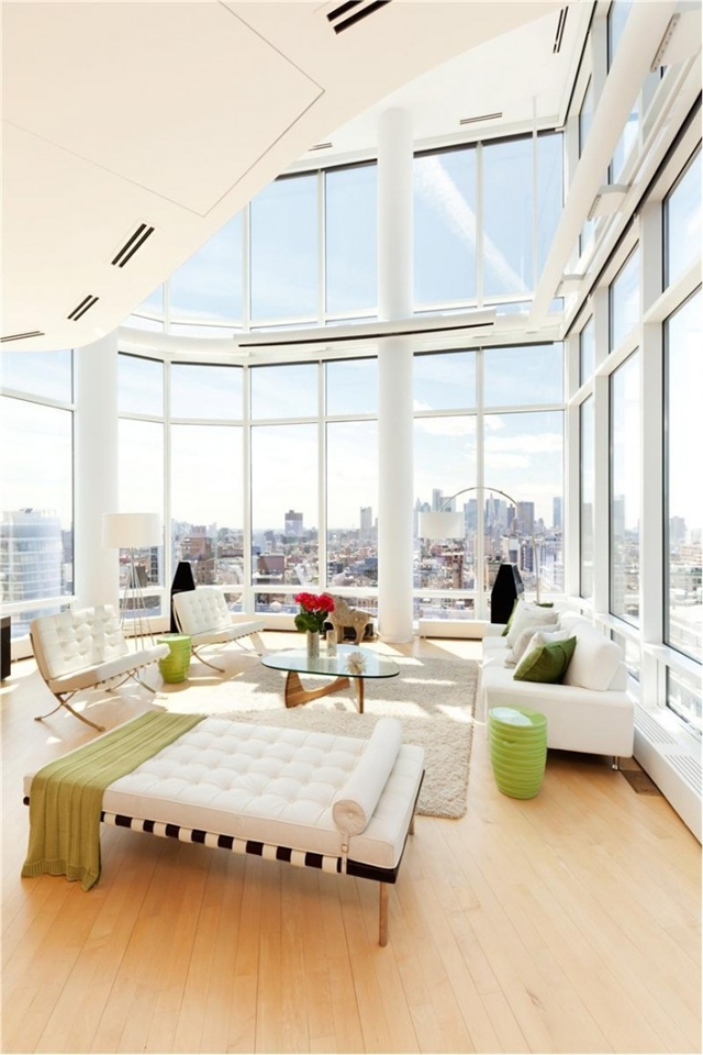 World of architecture penthouses interiors of duplex in for Living room nyc