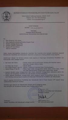 Surat Edaran Kemdikbud tentang Pakaian Kerja Pegawai 26 Januari 2016