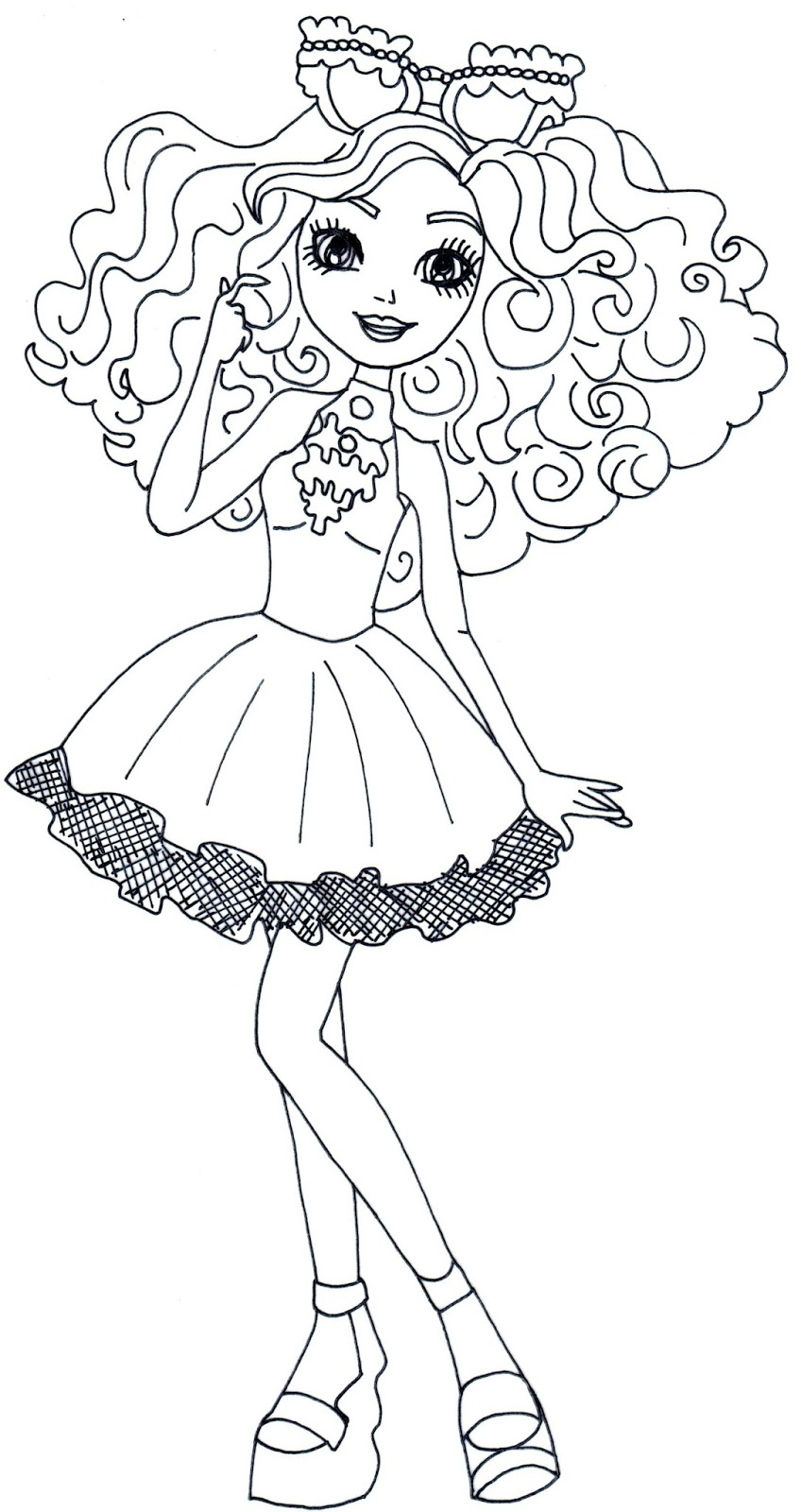 Lizzie Hearts Way Too Wonderland Ever After High Coloring