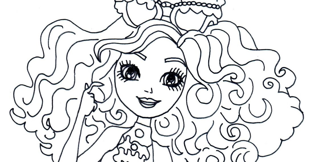 Free Printable Ever After High Coloring Pages Madeline Hatter Mirror Beach Page